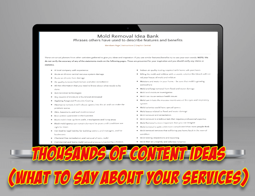 Cleaning and Restoration Marketing Content